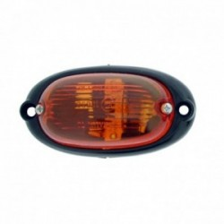 Feu clignoteur latéral orange ovale