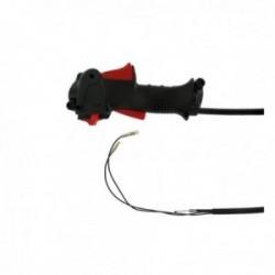 Poignée complète avec bouton ON / OFF pour débroussailleuse avec câble 840 mm - diamètre 24 mm