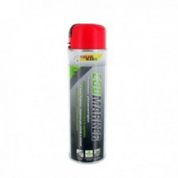 Aérosol COLOR MARK 500 ml fluo rouge pour marquage craie