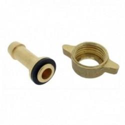 Raccord de jonction droit et écrous G1/2 - Diamètre 13 mm