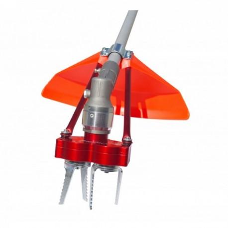 Système 2 fraises contre-rotatives universel. Largeur de travail 100mm