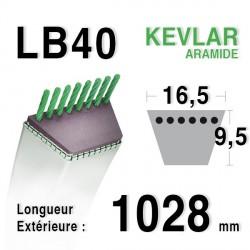 Courroie 16.5mm x 1028mm - LB40