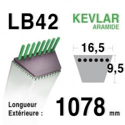 Courroie 16.5mm x 1078mm - LB42