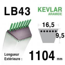 Courroie 16.5mm x 1104mm - LB43
