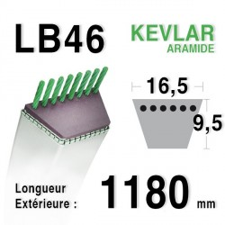 Courroie 16.5mm x 1180mm - LB46