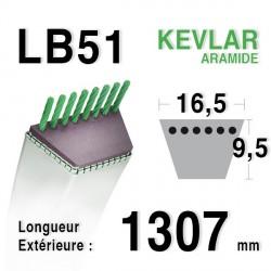Courroie 16.5mm x 1307mm - LB51