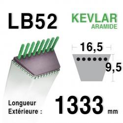 Courroie 16.5mm x 1333mm - LB52