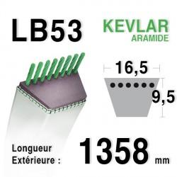 Courroie 16.5mm x 1358mm - LB53