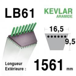 Courroie 16.5mm x 1561mm - LB61