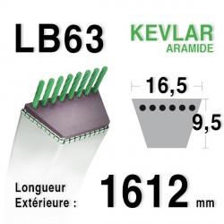 Courroie 16.5mm x 1612mm - LB63