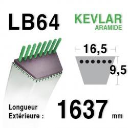 Courroie 16.5mm x 1637mm - LB64