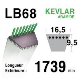 Courroie 16.5mm x 1739mm - LB68