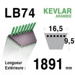 Courroie 16.5mm x 1891mm - LB74