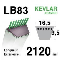 Courroie 16.5mm x 2120mm - LB83