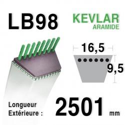 Courroie 16.5mm x 2501mm - LB98