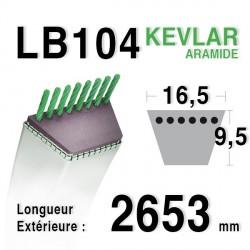Courroie 16.5mm x 2653mm - LB104