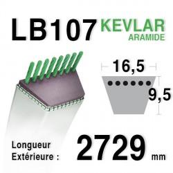 Courroie 16.5mm x 2729mm - LB107