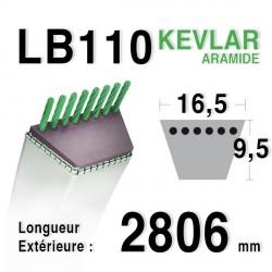 Courroie 16.5mm x 2806mm - LB110