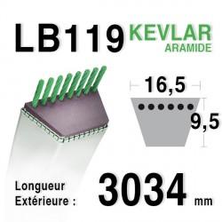 Courroie 16.5mm x 3034mm - LB119