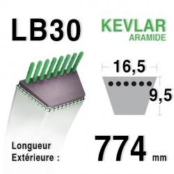 Courroie 16.5mm x 774mm - LB30