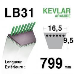 Courroie 16.5mm x 799mm - LB31