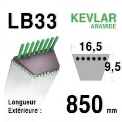Courroie 16.5mm x 850mm - LB33