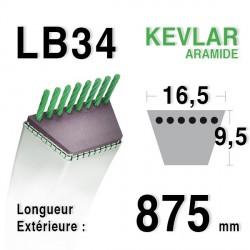 Courroie 16.5mm x 875mm - LB34