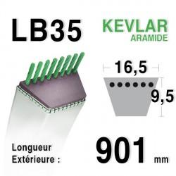 Courroie 16.5mm x 901mm - LB35