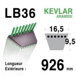 Courroie 16.5mm x 926mm - LB36