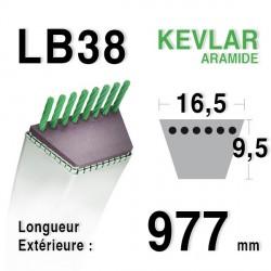 Courroie 16.5mm x 977mm - LB38